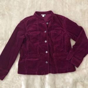 Charter Club Corduroy Burgundy Blazer Jacket Sz L